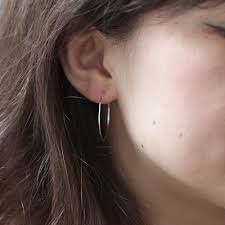 big hoop earrings big hoop earrings silver catbird