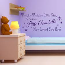 twinkle star girls personalised nursery children s bedroom wall twinkle star girls personalised nursery children s bedroom wall sticker decal