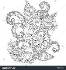 coloring pages adults henna mehndi doodles stock vector 395529883
