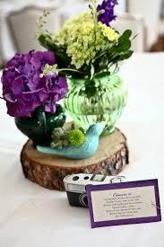 Purple Flowers Centerpieces by 156 Best Lacey U0027s Wedding Love Birds Purple U0026 Green Images On