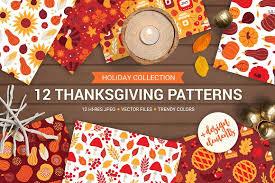 12 thanksgiving day patterns bonus patterns creative market