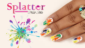splatter nail art design do it yourself khoobsurati com youtube