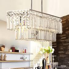 Crystal Light Fixtures Dining Room - aliexpress com buy modern square crystal chandelier light