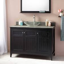 Primitive Home Decor Coupon Code Vintage Black Mahogany Wood Single Sink Vanity Combined Linen