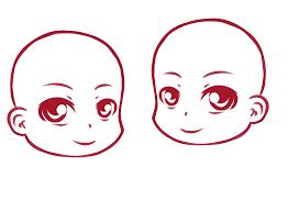 chibi head template by sad reaper on deviantart