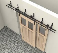 Barn Door Closet Hardware 6 6 6ft Bypass Sliding Barn Wood Door Closet Door Interior Arrow