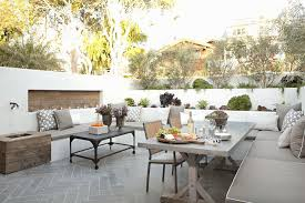 concrete patio dining table outdoor sectional sofa contemporary deck patio eric olsen design