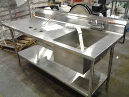 industrial stainless steel kitchen sink vintage industrial