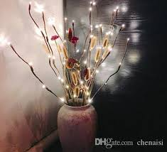 decorative branches with lights 2018 warm led willow branch l floral lights 20 bulbs home