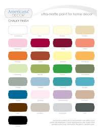 Vintage Americana Decor Decoart Chalky Paint Inspiration Board Paint Colour Charts