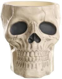 creepy home decor creepy skull candy bowl sculpture skeleton festive spooky