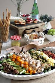 thanksgiving nutrition turkey cobb salad with cranberry sauce and brie crostini two of
