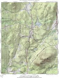 Topography Map Interstate 87 The Adirondack Northway Lewis Topographic Map