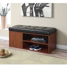 lakeville white storage bench 18 75 inches seat height walmart com