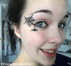 Black Eye Makeup For Halloween Beautiful Spider Eye Makeup Idea For Young Girls How To Do