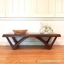 vintage mid century modern coffee table vintage walnut mid century modern coffee table from elizabeth of