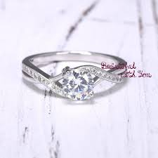Wedding Rings For Her by Engagement Ring Womens Sterling Silver Promise Ring Silver Cubic