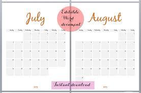 blank calendar editable 2018 january calendar