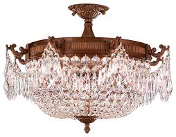 Large Flush Mount Ceiling Light by French Basket 4 Light French Gold Finish Ceiling Flush Mount 24