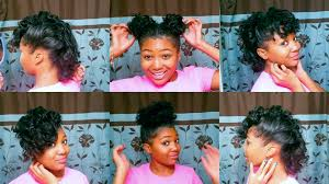 10 quick easy hairstyles for relaxed hair youtube