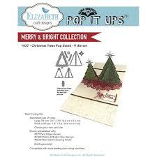 elizabeth craft designs dies christmas trees pop stand