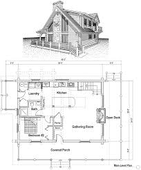 Cabin Blue Prints by Loft House Plans Home Office