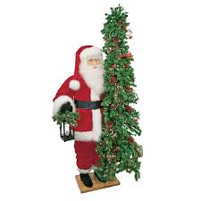 ditz designs life size father christmas tree classic joy santa 11615