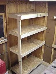 Build Wooden Shelving Unit by Cheap Garage Shelves Ideas How To Make A Basement Storage Shelf