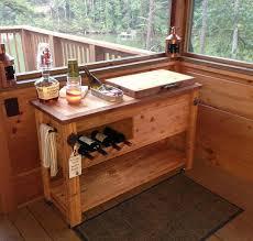 outdoor rustic wooden cooler bar buffet by rusticwoodworx chance
