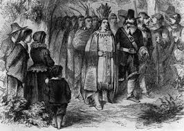 Pilgrim Thanksgiving History Pilgrim And Wampanoag Salem Indians Pinterest