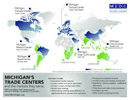 Michigan On Us Map by International Trade Services Medc