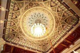 Sultan Qaboos Grand Mosque Chandelier Grand Mosque In Oman Luxury Interior Cupola With Chandelier