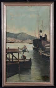 Asta Del Mobile Genova Campi by Antonio Varni 1841 1907 Mattina D U0027inverno Nel Porto Di Genova
