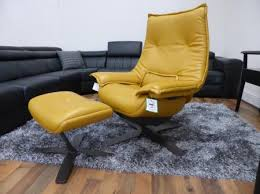 Natuzzi Swivel Chair Natuzzi Revive Swivel Chair U0026 Footstool Deep Gold Leather Home