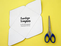 diy recycled paper envelopes with printable template my poppet