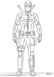 coloring pages of deadpool eson me