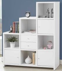 White Bookcase With Drawer by White Ladder Bookshelf Leaning Ladder Bookcase Drawer Bookshelf