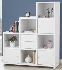 white ladder bookshelf escala shelf white loading zoom