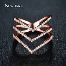 gold and cz v shaped ring sterling silver jaebee jewelry newbark brand big women rings micro cz three v shape ring gold