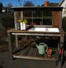 Outdoor Sink Ideas Garden Potting Bench Potting Bench With Sink Rustic Window Sink