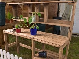 diy pallet work table charming garden work table diy pallet garden work bench pallet chic