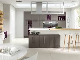 modern kitchen decoration using modern grey purple kitchen cabinet