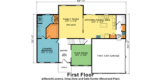 Data Center Floor Plan by Belmont Fine Line Homes