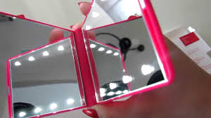 Light Up Makeup Mirror Flo Celebrity Mirror 8 Led Light Cosmetic Makeup Portable Compact