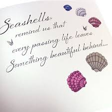 condolences cards seashells remind us with sympathy card karenza paperie