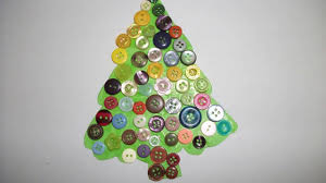 button christmas tree craft for kids youtube