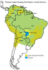 South America Rivers Map by The Pantanal In South America Wwf