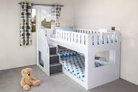 Staircase Bunk Beds Toddler Duvet Comfortable Sleep Home Design