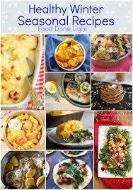 healthy winter seasonal recipe up food done light