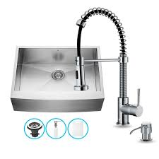 kitchen sink with faucet set faucet vg15032 in stainless steel by vigo